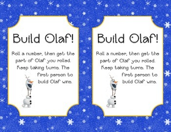 Roll and build Olaf