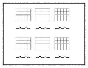 Roll and fill the ten frame 1st Grade version