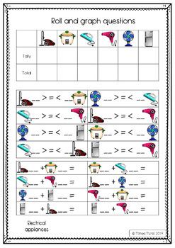 Roll and Graph Series Set 2 -- Balls, Transport, Appliances