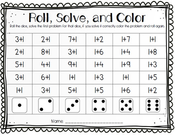 Roll and read ELA and Math Bundle