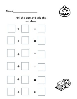Roll and record addition and subtraction