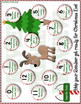 Roll 'em for the Reindeer Math Game