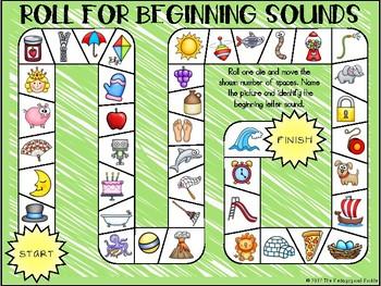 Roll for Beginning Sounds--FREEBIE!