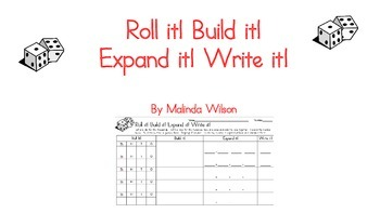 Roll it! Build it! Expand it! Write it! Dice Game