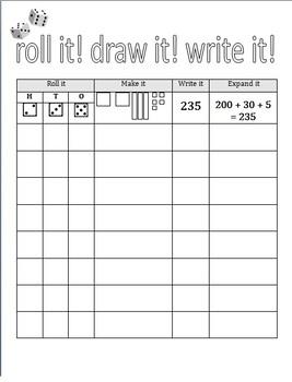 Roll it, Draw it, Expand it, Write it!