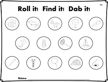 Roll it! Find it! Dab it! - Initial Sounds