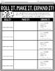 Expanded Form Activity Set - Task Cards & Roll it, Make it, Expand it!