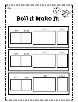 Roll it Make it! Place Value