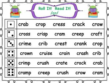 Roll it! Read It! 2 Letter Blends Fluency Practice