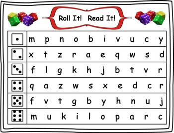 Roll it! Read It! Letters and Sounds DIBELS practice