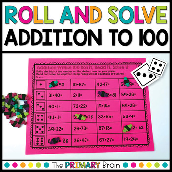 Roll and Solve Addition Equations Within 100