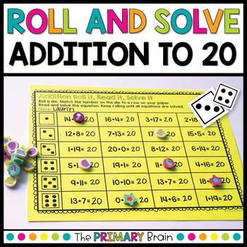 Roll and Solve Addition Facts Within 20
