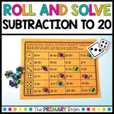 Roll and Solve Subtraction Facts Within 20