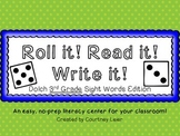 Roll it! Read it! Write it! - 3rd Grade Dolch Sight Words Edition