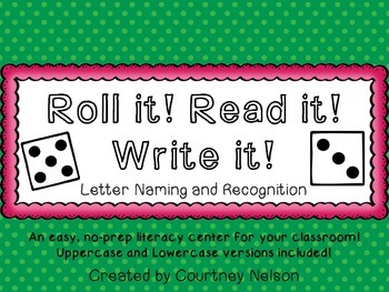 Roll it! Read it! Write it! - Uppercase and Lowercase Letter Edition