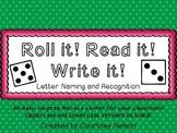 Roll it! Read it! Write it! - Uppercase and Lowercase Lett