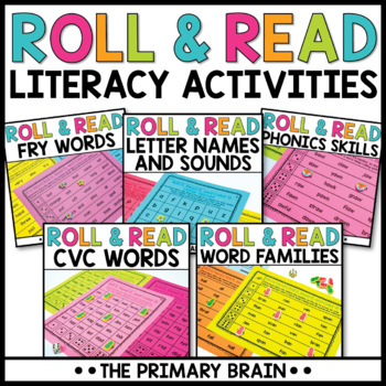 Roll it, Read it, and Color it Literacy Activity BUNDLE!! #discountedbundles