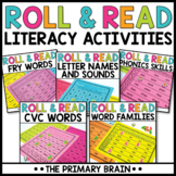 Roll and Read Literacy Activity BUNDLE   Independent Center Work