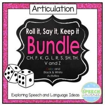 Articulation Roll it, Say it, Keep it: Bundle