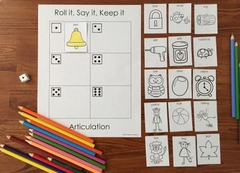 Articulation Roll it, Say it, Keep it: Bundle