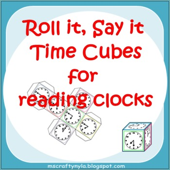 Telling Time Activity - hour - half hour - quarter hour - five minute intervals