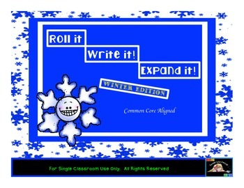 Roll it! Show it! Expand it!Winter Christmas Place Value Game{Sweet Line Design}