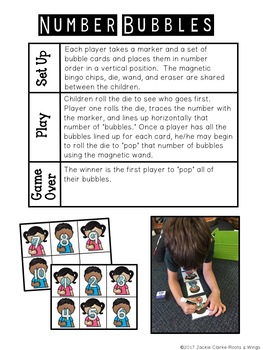 Roll it, Write, Count it  - Math Tubs/Centers Games -  Numbers 1-10