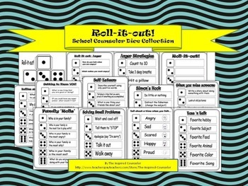 Roll-it-out! School Counselor Dice Collection