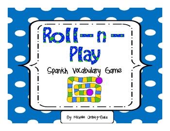 Roll-n-Play Spanish Vocabulary Game Sínonimos