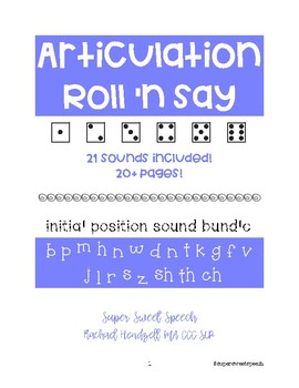 Roll 'n Say Initial Articulation Bundle