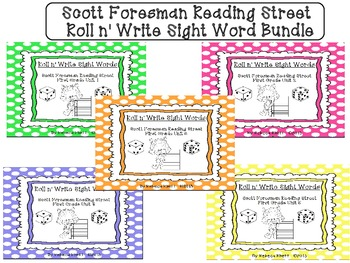Roll n' Write-Scott Foresman Reading Street for First Grade Bundle Units 1-5