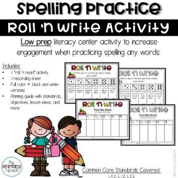 Roll 'n Write Word Work Activity