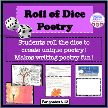 Poetry writing activity, literacy stations, fun stuff, games, creative thinking