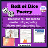 Poetry writing activity, literacy stations, fun stuff, gam