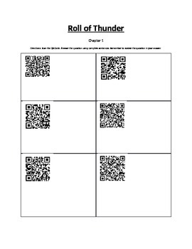 Roll of Thunder Chapter 1 QR Codes