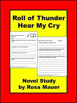 Roll of Thunder, Hear My Cry Book Unit