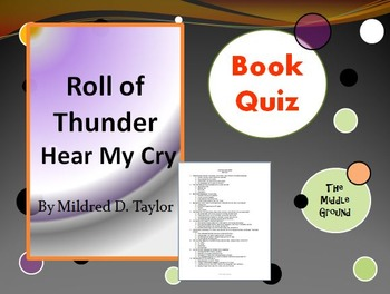 Roll of Thunder Hear My Cry Book Quiz / Book Test