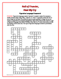 Roll of Thunder, Hear My Cry: Figurative Language Crossword—-Fun!