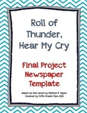 Roll of Thunder, Hear My Cry: Final Project Newspaper Template
