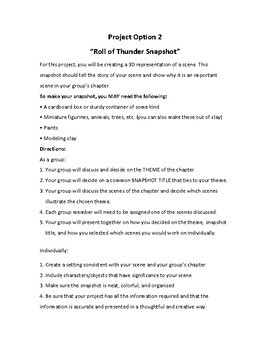 Roll of Thunder, Hear My Cry  Unique and Creative Group Project