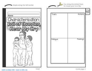 ROLL OF THUNDER, HEAR ME CRY: INTERACTIVE NOTEBOOK CHARACTERIZATION MINI FLIP