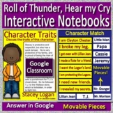 Roll of Thunder, Hear My Cry Interactive Notebook Paperless for Google Classroom