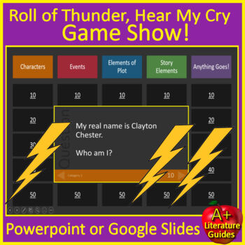 Roll of Thunder, Hear My Cry Review Game