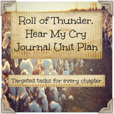 Roll of Thunder, Hear My Cry Journal Unit Plan