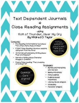 Roll of Thunder, Hear My Cry: Text Dependent Journals and Close Reading