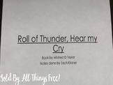 Roll of Thunder Hear My Cry Notes Powerpoint EDITABLE