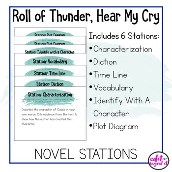 Roll of Thunder, Hear My Cry Learning Stations