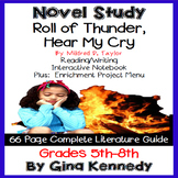 Roll of Thunder, Hear My Cry Novel Study + Enrichment Project Menu