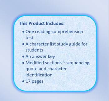 Roll of Thunder Hear My Cry Reading Comprehension Tests Free Sample