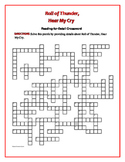 Roll of Thunder, Hear My Cry: Reading-for-Detail Crossword—One of a kind!